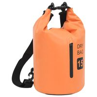 vidaXL Drybag met rits 15 L PVC oranje