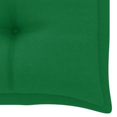 vidaXL Tuinbankkussen 100x50x7 cm stof groen
