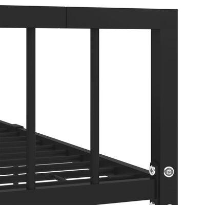 vidaXL Bedframe metaal zwart 140x200 cm