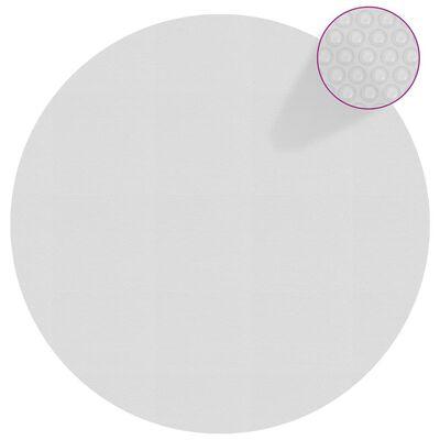 vidaXL Zwembadfolie solar drijvend 455 cm PE grijs