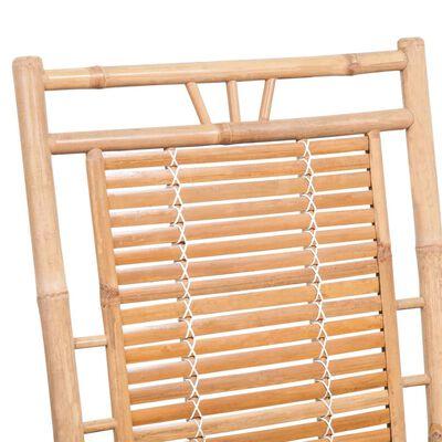 vidaXL Schommelstoel met kussen bamboe