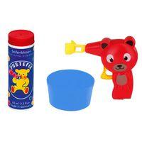 Pustefix bellenblaaspistool beer met bellenblaas 70 ml rood