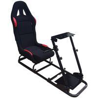 AutoStyle game-simulator met opvouwbare sportstoel zwart