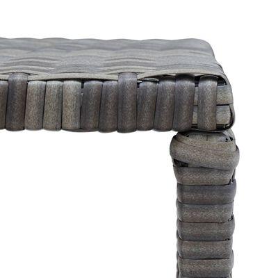 vidaXL Salontafel 70x40x38 cm poly rattan antraciet