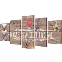 Canvasdoeken home sweet home 100 x 50 cm