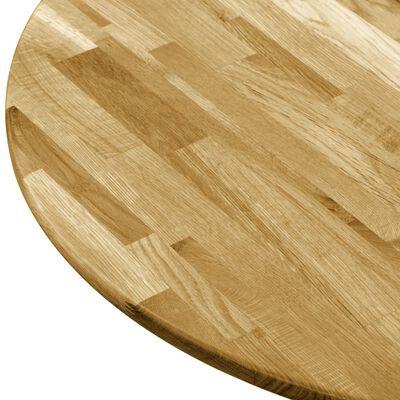 vidaXL Tafelblad rond 23 mm 500 mm massief eikenhout