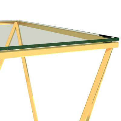 vidaXL Salontafel 80x80x45 cm roestvrij staal goudkleurig