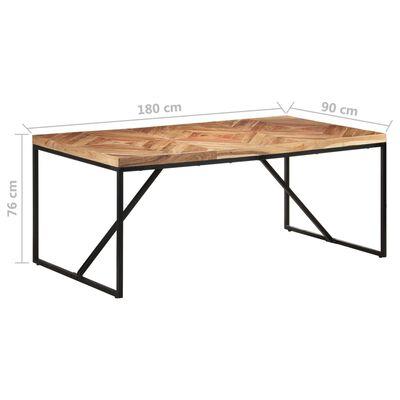vidaXL Eettafel 180x90x76 cm massief acaciahout en mangohout