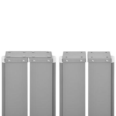 vidaXL Windscherm uittrekbaar 120x1000 cm antraciet