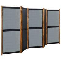 vidaXL Kamerscherm met 5 panelen 350x170 cm zwart