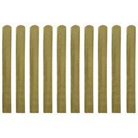vidaXL Schuttinglatten 10 st 100 cm geïmpregneerd hout