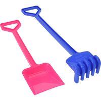 Free and Easy schep en hark 46 cm paars/roze