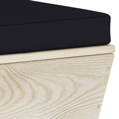 vidaXL Tuinbank 2-zits met kussens pallet vurenhout