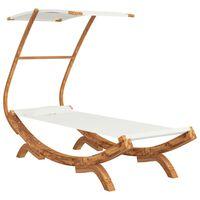 vidaXL Hangmat met luifel 100x198x150 cm massief vurenhout crèmekleur