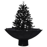 vidaXL Kerstboom sneeuwend met paraplubasis 75 cm PVC zwart