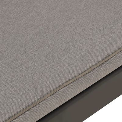 vidaXL 6-delige Loungeset met kussens kunststof grijs