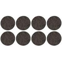 48x stuks zwarte ronde meubelviltjes/antislip noppen 2,6 cm -