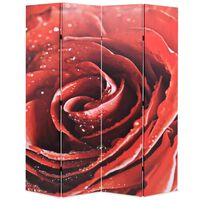 vidaXL Kamerscherm inklapbaar roos 160x170 cm rood