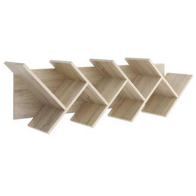 FMD Boekenplank zwevend geometrisch eikenkleurig