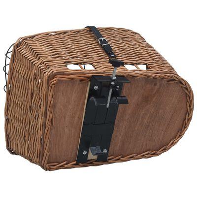 vidaXL Fietsmand voor bagagedrager 55x31x36 cm natuurlijk wilgen