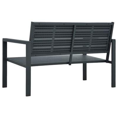 vidaXL Tuinbank hout-look 120 cm HDPE grijs