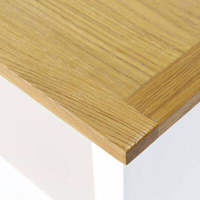 vidaXL Boekenkast met 3 schappen 72x22,5x82 cm massief eikenhout , Wit