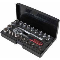 KS Tools Ratelsleutel, doppen en bit set 1/4'' 26-delig 917.0626