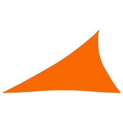 vidaXL Zonnescherm driehoekig 4x5x6,4 m oxford stof oranje
