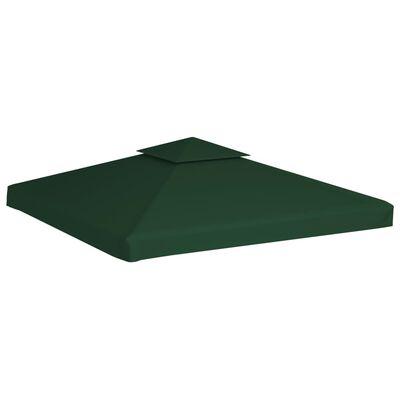 vidaXL Vervangend tentdoek prieel 310 g/m² 3x3 m groen