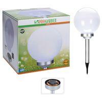 """ProGarden LED Solar Light """"Ball"""" 25 cm White"""