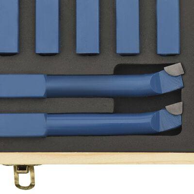 vidaXL 11-delige Draaigereedschapsset P30 12x12 mm hardmetaal