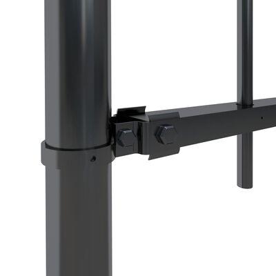 vidaXL Tuinhek met ronde bovenkant 10,2x1,5 m staal zwart