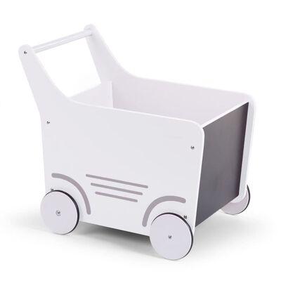 CHILDHOME Poppenwagen hout wit