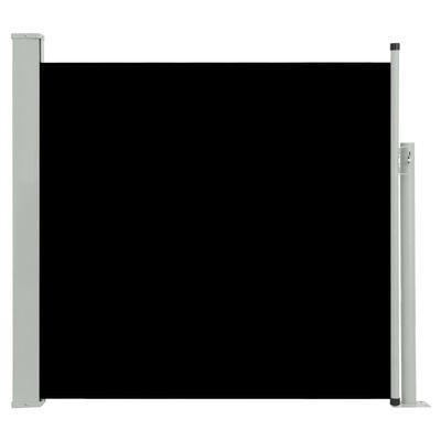 vidaXL Tuinscherm uittrekbaar 170x300 cm zwart