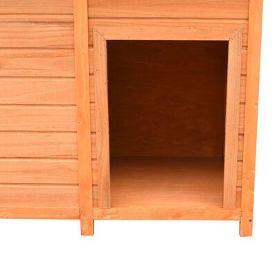 vidaXL Hondenhok 120x77x86 cm massief grenenhout en vuurhout