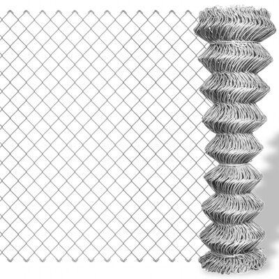 vidaXL Gaashek 15x1 m gegalvaniseerd staal zilverkleurig