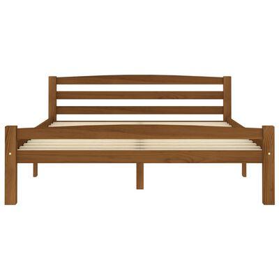 vidaXL Bedframe massief grenenhout honingbruin 120x200 cm