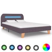 vidaXL Bedframe met LED stof taupe 120x200 cm