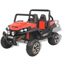 vidaXL Elektrische speelgoedauto voor 2 personen rood en zwart XXL
