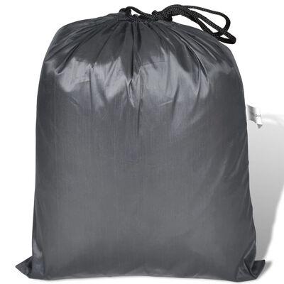 vidaXL Motorhoes polyester grijs