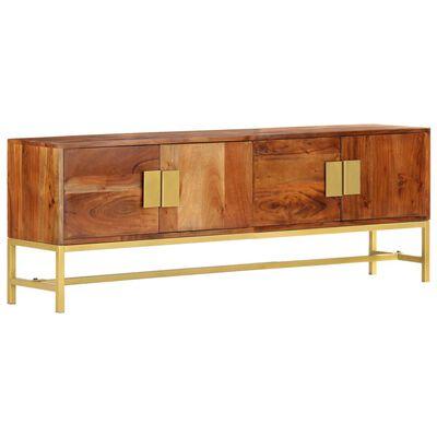 vidaXL Tv-meubel 140x30x50 cm massief acaciahout