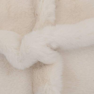 vidaXL Vloerkleed 65x95 cm kunstkonijnenbont crème