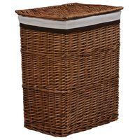vidaXL Wasmand stapelbaar wilgenhout bruin