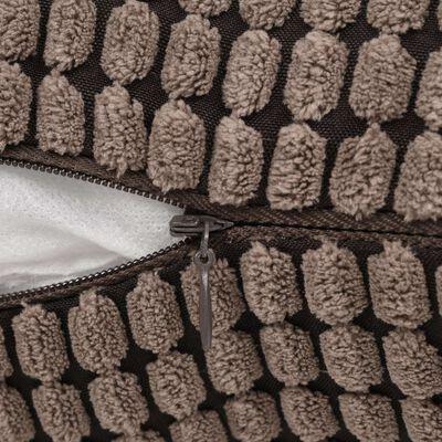 vidaXL Sierkussenset 45x45 cm velours bruin 2-delig