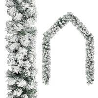 vidaXL Kerstslinger met sneeuwvlokken 20 m PVC groen