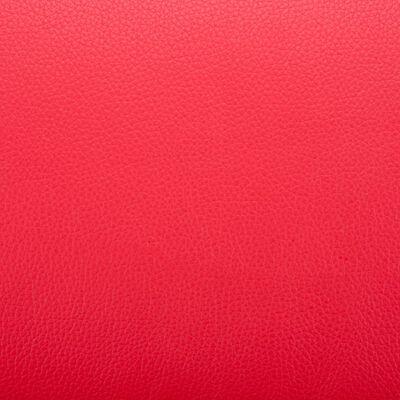 vidaXL Fauteuil met voetenbankje kunstleer rood