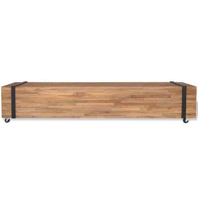 vidaXL Tv-meubel teakhout 150x30x30 cm