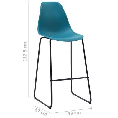 vidaXL Barstoelen 2 st kunststof turquoise