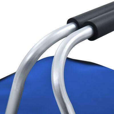 vidaXL Koeltas opvouwbaar 46x27x23 cm aluminium blauw