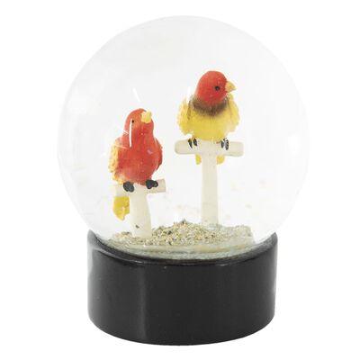 Sneeuwbol | Ø 10*13 cm | Multi | Polyresin / glas | rond | vogels |